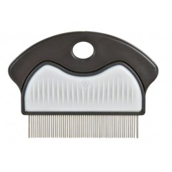 Loppe Tættekam med plasthåndtag med nonslip gummigreb. 7 cm