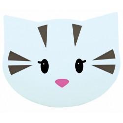 """Underlag til foderskåle. """"Mimi"""" katteansigt. 35x28 cm."""