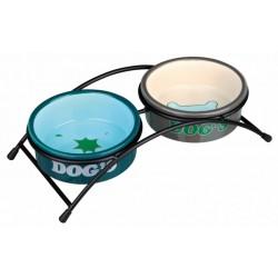 """Dog's"" Eat-on-feet skålesæt i keramik"