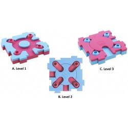 Nina Ottosson MixMax Puzzle Plast. Pink/turkis. Til kat.