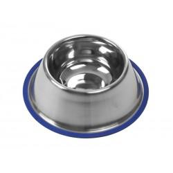 Buster Cocker hundeskål med blå silikonering i bunden. 0,9 L / Ø 24,5 cm.