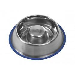 Buster Slow feeder / spis-langsomt hundeskål med blå silikonering i bunden
