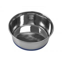 Buster katteskål / hundeskål med blå silikonebund