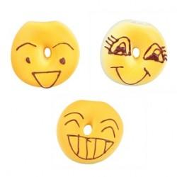 Bagels face, af latex med piv, ca.6 cm. 1 stk Ass