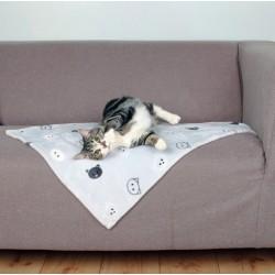 Mimi tæppe med kattemotiver