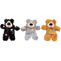 "Kong Cat Softies Patchwork Bear - Bamse med ""lapper"". Måler ca. 8 cm. 1 stk. Ass. farver."