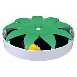 Kattelegetøj. Magnetisk mus. Ø 25 cm. Hvid/Grøn.