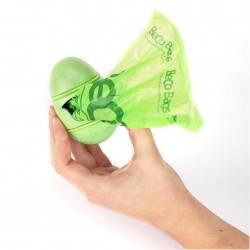 Beco Pocket høm-høm pose dispenser. Inkl. 15 poser. Grøn. Lavet af plantefibre plast. bæredygtigt og biologisk nedbrydeligt.