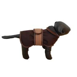Hundedækken Polar. Mørkebrun/beige.