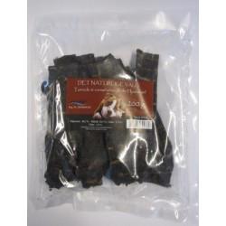 Tørrede hjortekødsstrimler / hjortekød. 200 g.