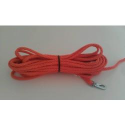 Sporline i rund nylon orange. Ø 8 mm x 15 M