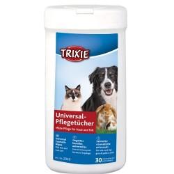 Vådservietter, betændelseshæmmende med Aloe vera til hunde, katte og små dyr. 30 stk. i praktisk plastbeholder.