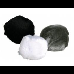 Plysbolde med bjælde og catnip. Ca. Ø 3 cm. Ass. farver. 2 stk.