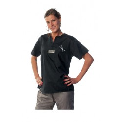Sort Tikima skjorte til hundefrisører
