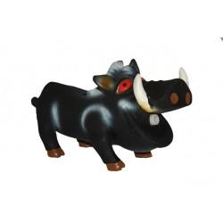 Hundelegetøj Lille sort vildsvin i latex.