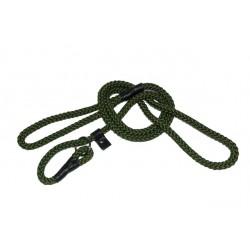 Grøn Labradorline. Line med integreret halsbånd. 8 mm. 150 cm.