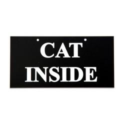 Skilt: CAT INSIDE. Kan evt.hænges på døren.