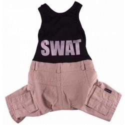 Doggydolly SWAT buksedragt. Sort og Beige.