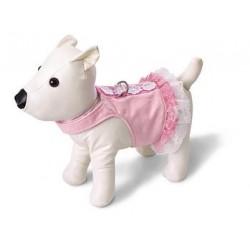 Doggles Pink Lace Sele/kjole.Teacup. Brystmål: 16-26 cm