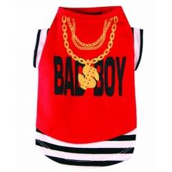 DoggyDolly Trendy Rød hunde-tshirt. Bad Boy