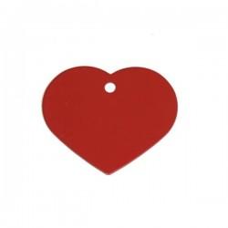 Hundetegn. Hjerte i aluminium. 2 størrelser. Dybdegraveres.