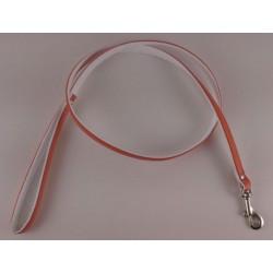 Hunter enkeltline med håndtag. Orange med hvid bagside. Måler 110 cm / 11 mm