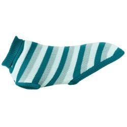 Burnaby Strik pullover Petrol/blue mint med indbygget regnslag