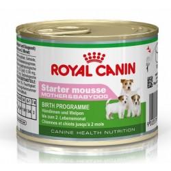 Royal Canin Starter Mousse til den drægtige og diegivende tæve og hendes hvalpe op til 2 måneder. 1 ds á 195 g.