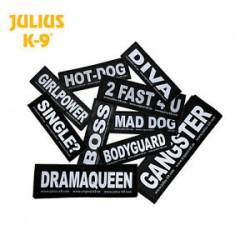Labels til Julius k9 seler