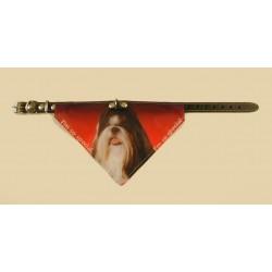 Bandana halsbånd med motiv af Shih Tzu.