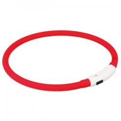 Flashlight lyshalsbånd til HUND i gummi Genopladeligt via USB-kabel (inkl. USB-kabel).