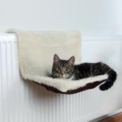 Radiatorseng til kat, langhåret plys/ruskinds look