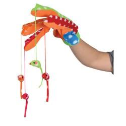 Handske med hængende mus ass. farver