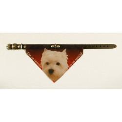Bandana halsbånd med motiv af West Highland Terrier
