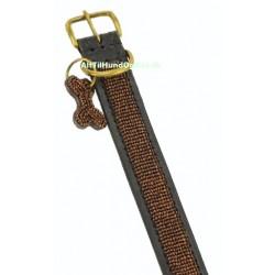 """""""Copper"""" eksklusivt håndlavet hundehalsbånd med kobberfarvede perler"""